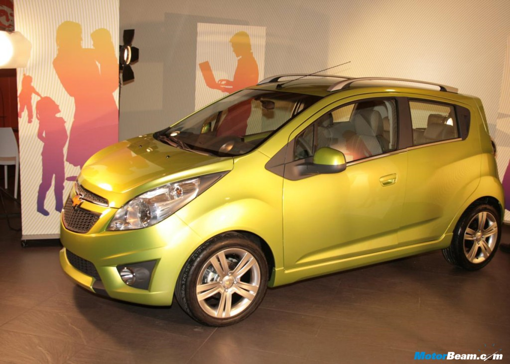 The Chevrolet Beat will be launched at the 2010 Auto Expo in New Delhi and