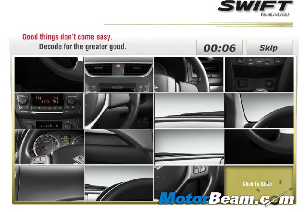 2011 Maruti Swift Website