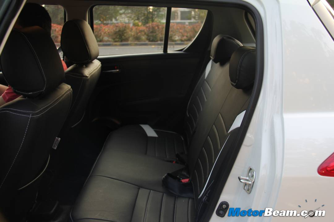 2012 Maruti Swift Rear Seat