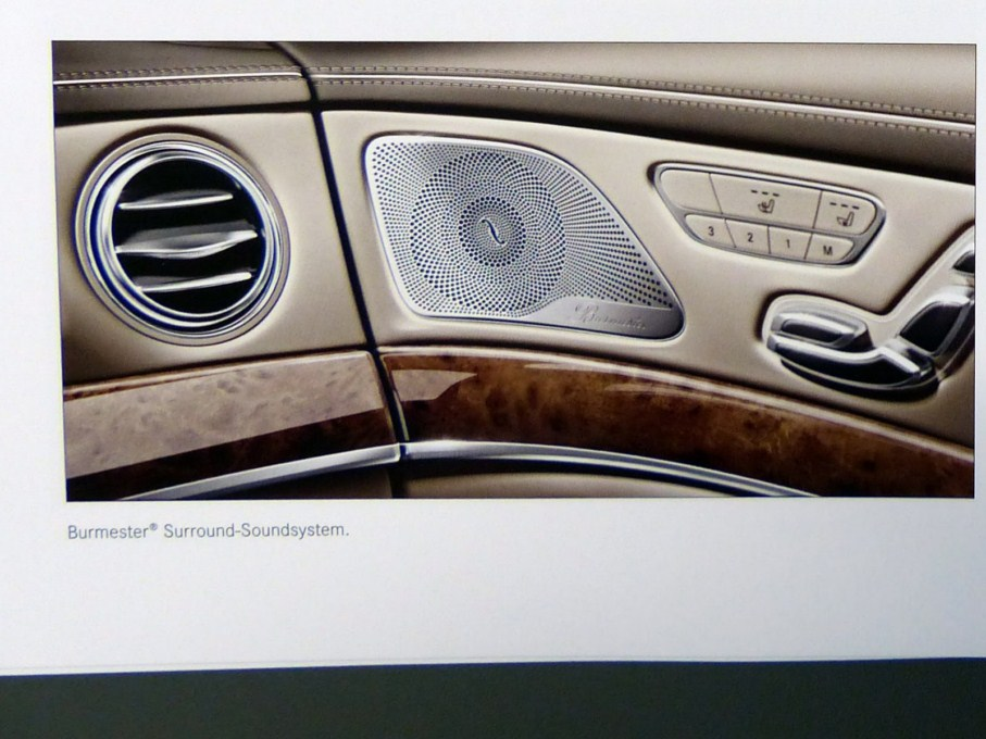 2014 Mercedes-Benz S-Class Brochure Burmester Surround Sound System