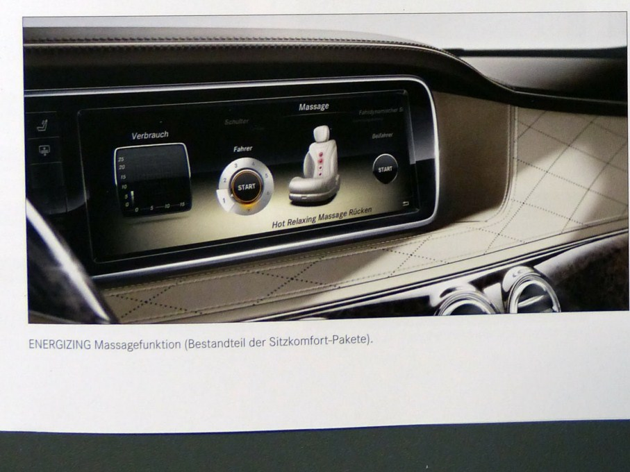 2014 Mercedes-Benz S-Class Brochure Speedometer Display