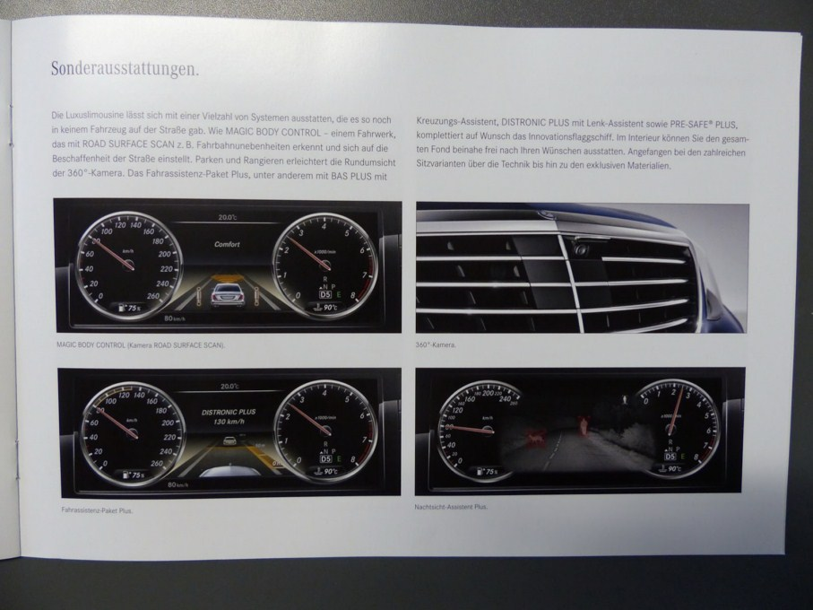2014 Mercedes-Benz S-Class Brochure Instrument Panel