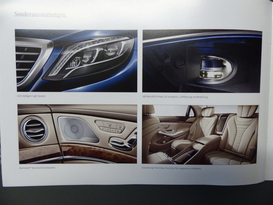 2014 Mercedes-Benz S-Class Brochure Interior Details