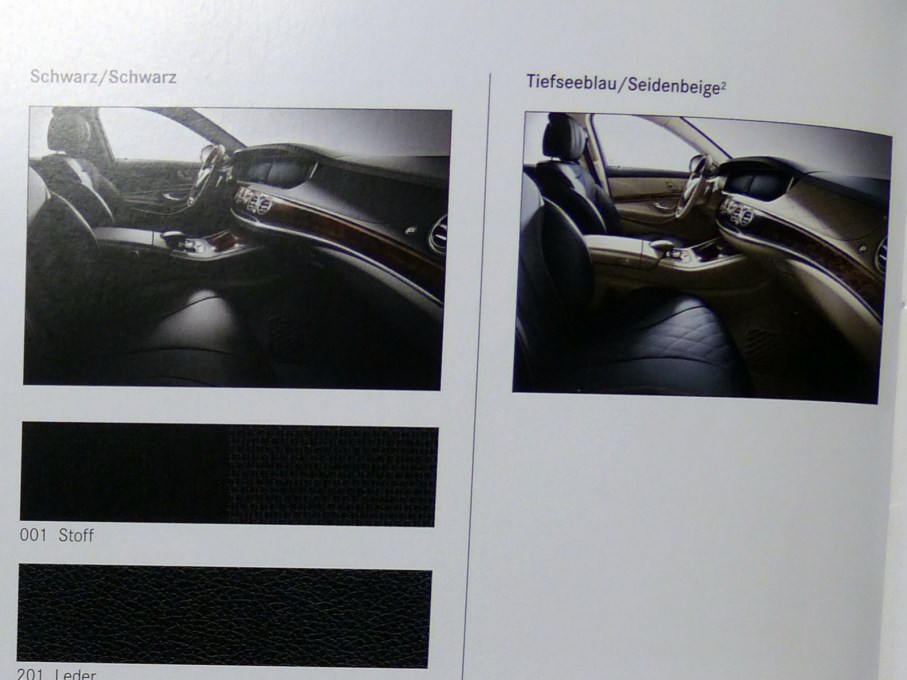 2014 Mercedes-Benz S-Class Brochure Interior Options