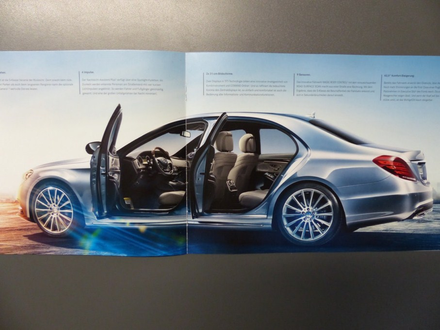 2014 Mercedes-Benz S-Class Brochure Side Details