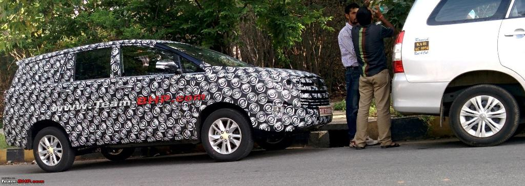 Next Generation Toyota Innova Spotted Testing In India