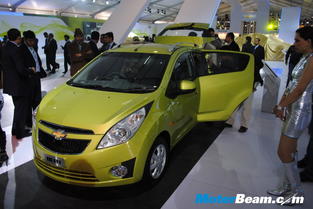 The recently launched Chevrolet Beat drew alot of attention at the 2010 Auto