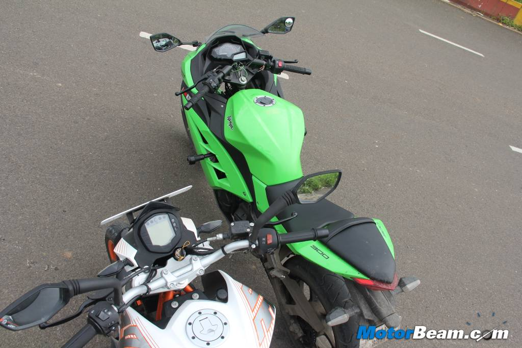 Duke 390 vs Ninja 300 Review