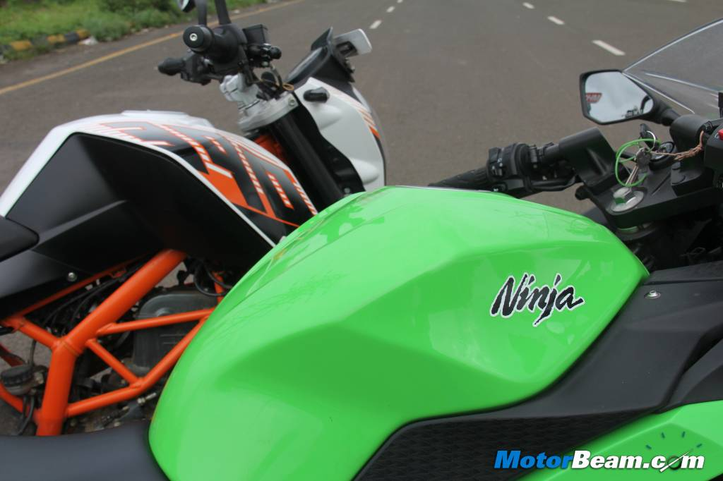 Duke-390 vs Ninja 300 Shootout
