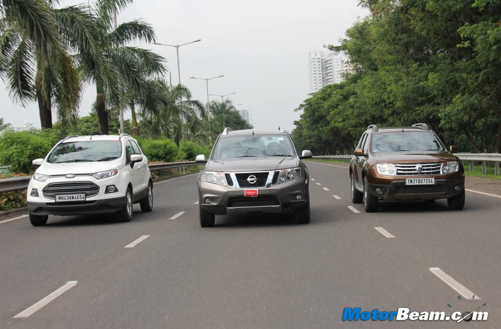 Duster vs EcoSport vs Terrano Review