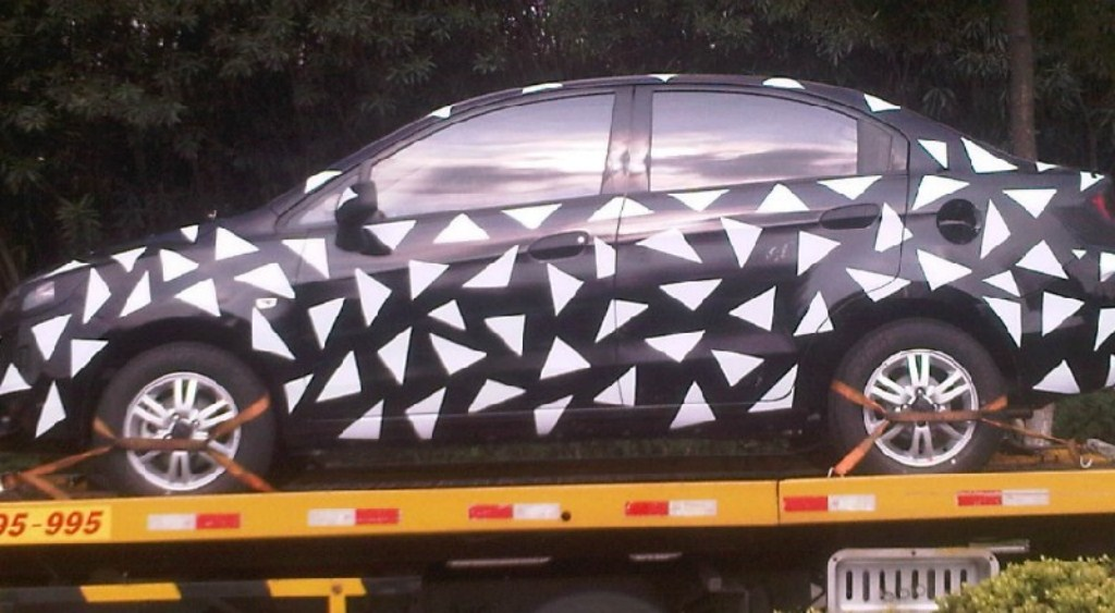 Facelifted Chevrolet Sail China Camouflaged