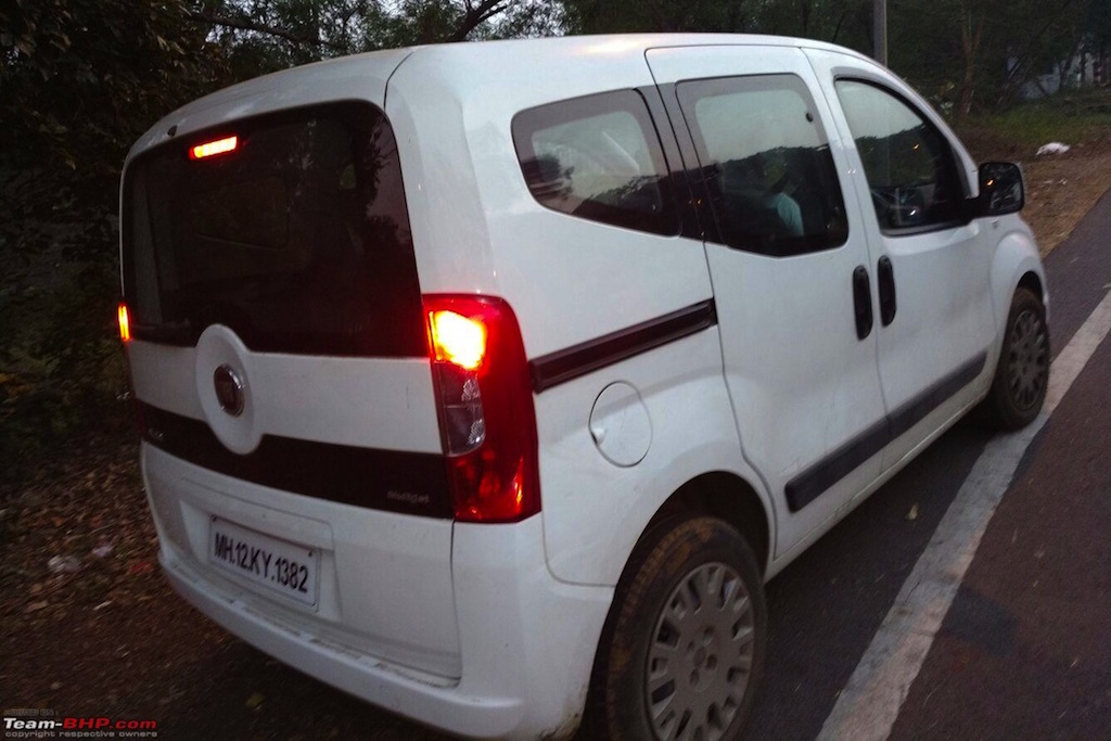 Fiat Qubo Spied India