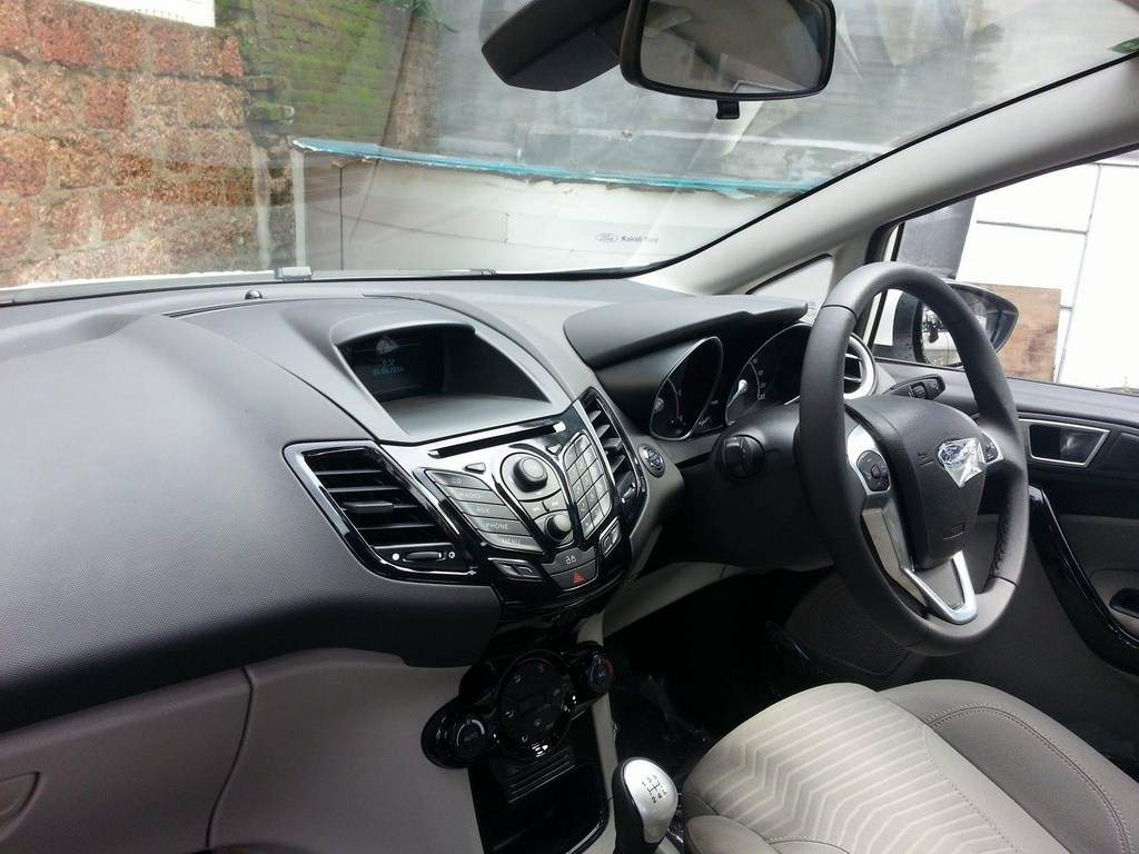 Ford Fiesta Facelift Spied Dealership Interior