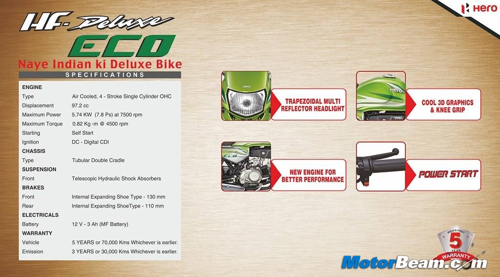 Hero HF Deluxe Eco Brochure