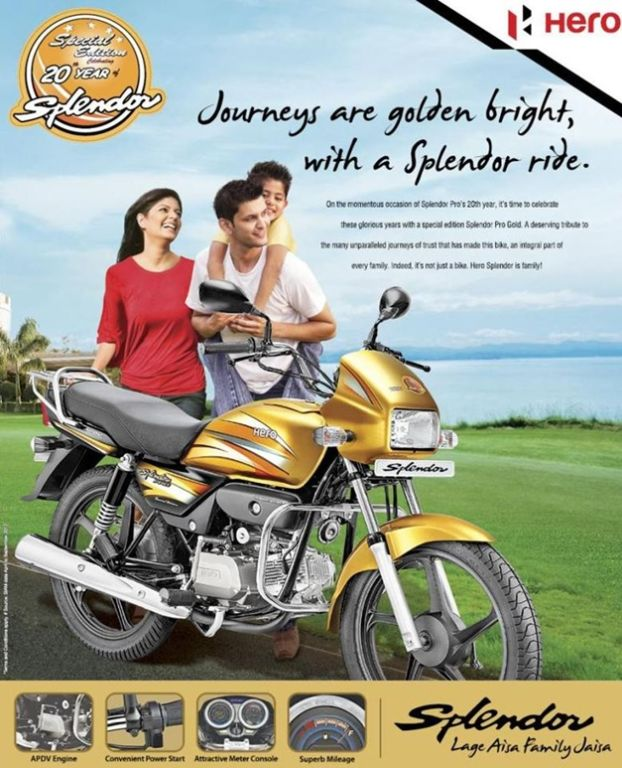 Hero Splendor Pro Gold Edition