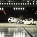 Honda CR-V vs Fit Crash