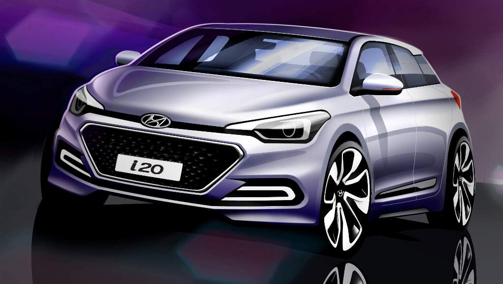 Hyundai Elite i20 Rendering Official Front