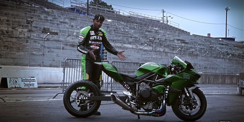 Rickey Gadson's Kawasaki Ninja H2 Is Drag Ready [Video] | MotorBeam