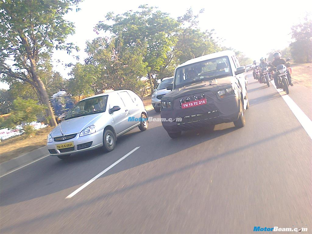 Spied New Mahindra Scorpio Facelift On Test Launch In 2014