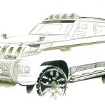 Mahindra-TUV3OO-Sketch-Off-Roader