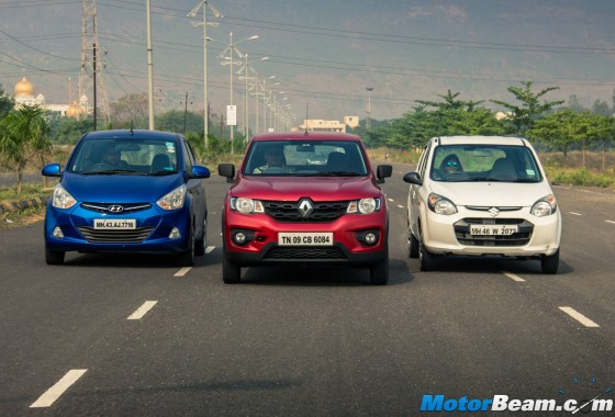 Maruti Alto 800 vs Renault Kwid vs Hyundai Eon - Comparison Video