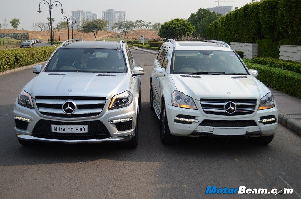 Mercedes GL 350 CDI Old vs New Front