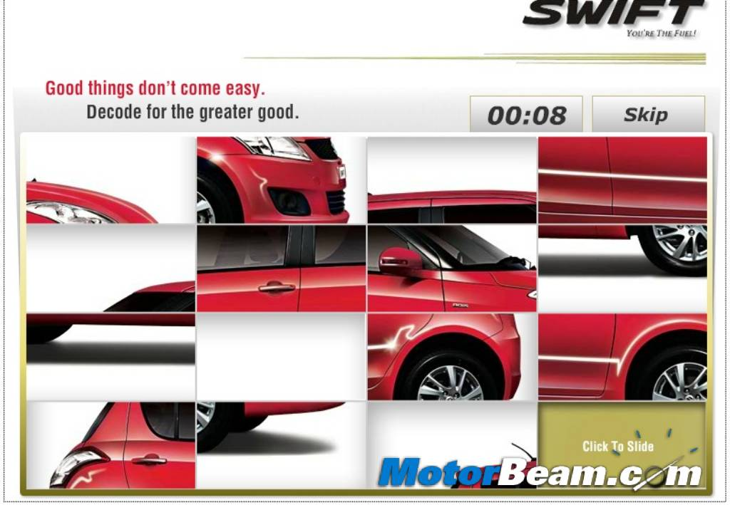 New Maruti Swift Puzzle
