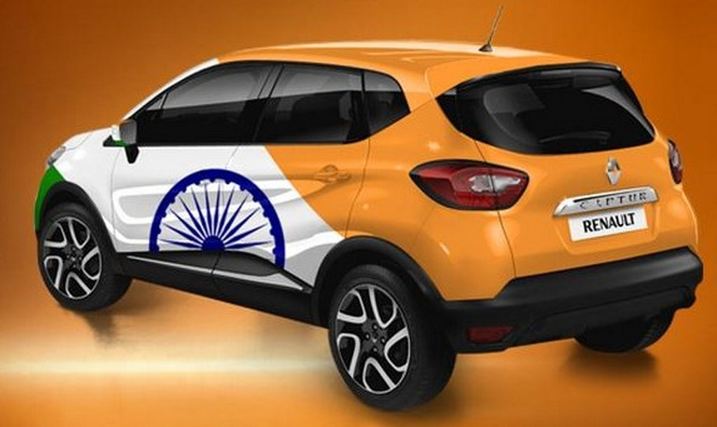 Renault Captur Colours Renault Captur India Flag Rear