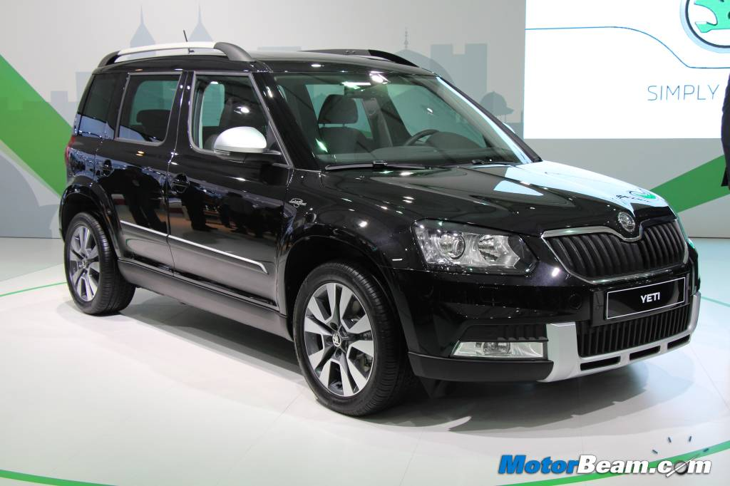 seriously blog skoda showcases yeti facelift at 2014 auto. Black Bedroom Furniture Sets. Home Design Ideas
