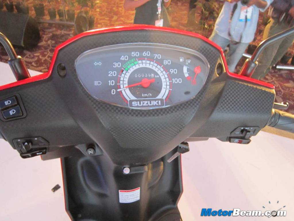 Motorcycle/Scooter/2Wheeler Scene in India - Suzuki Lets Console