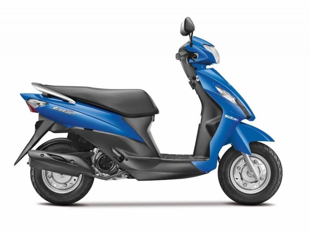 Motorcycle/Scooter/2Wheeler Scene in India - Suzuki Lets Scooter