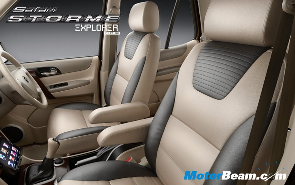 Tata Safari Storme Explorer Edition Leather Seats