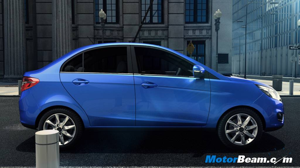 Tata Zest Sedan Side View