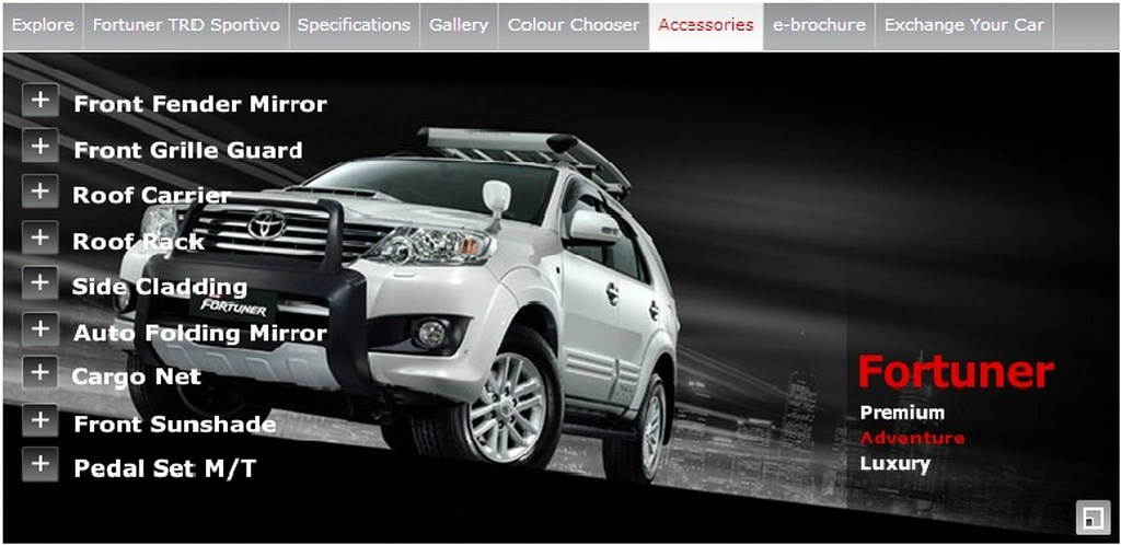Toyota Fortuner Adventure Accessories