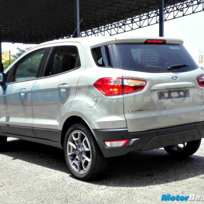 2015 Ford EcoSport Facelift Test Mule No Spare Wheel